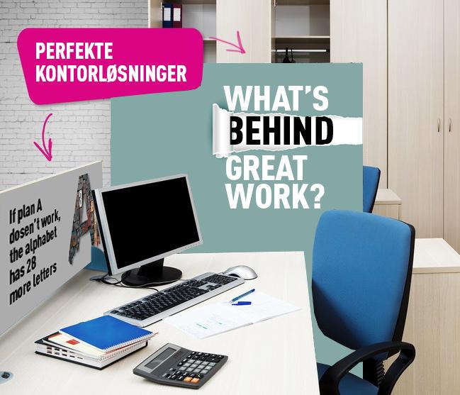 Afskærmnings løsninger til kontor, reception, venteværelse m.m.