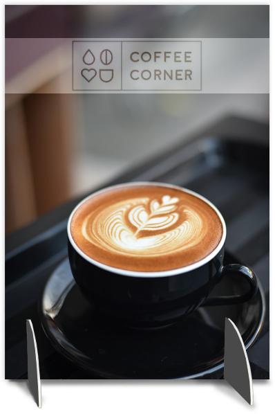 Afskærmning til caffe
