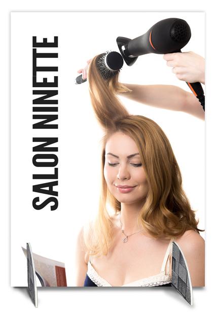 Skillevæg til frisør